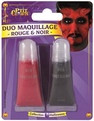Maquillage: Fard gras noir et rouge (x2) REF/14501