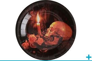 Fete halloween avec theme sur crane et tete de mort