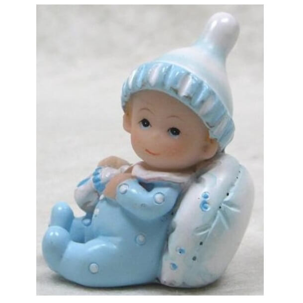 Figurine bapteme garcon bleu 1