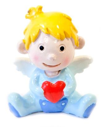 Figurine bebe ange garcon