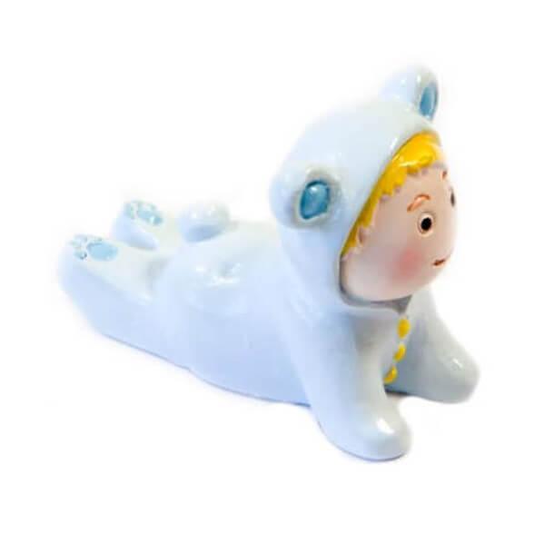 Figurine bebe garcon bapteme