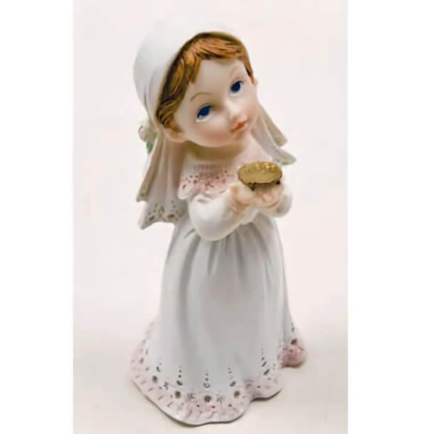 Figurine communion avec communiante fille