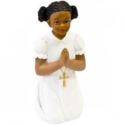 Figurine Communion fille agenouillée 11cm (x1) REF/RES879F