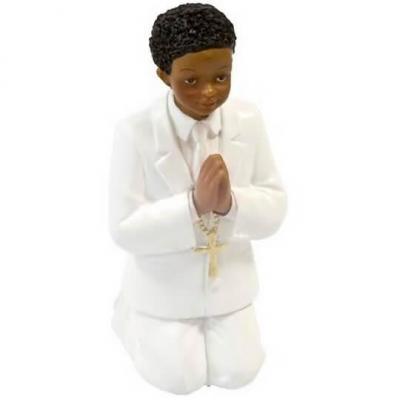 Figurine Communion garçon agenouillé 11cm (x1) REF/RES879G