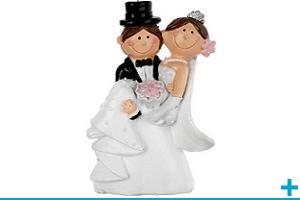 Figurine et sujet en resine mariage