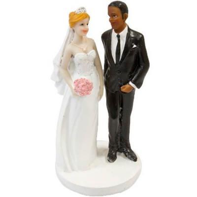 Figurine mariage couple de mariés mixte (x1) REF/SUJ4984
