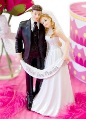 Figurine mariage: Mariés (x1) REF/SUJ4968
