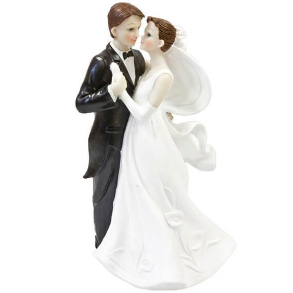 Figurine mariage couple de maries danseurs