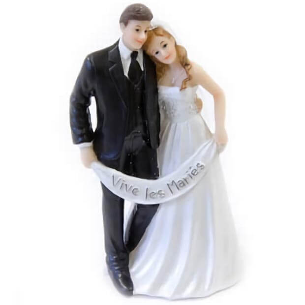 Figurine mariage couple de maries pour piece montee