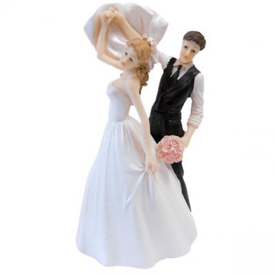 Figurine mariage couple de mariés: Virevoltant (x1) REF/SUJ4972