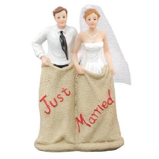 Figurine mariage course de sacs x1 ref 80373