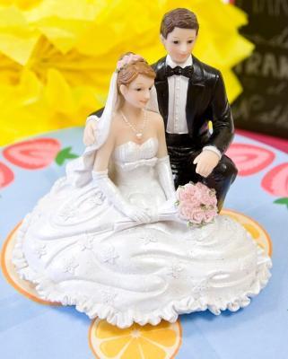 Figurine mariage: Agenouillés (x1) REF/SUJ4967