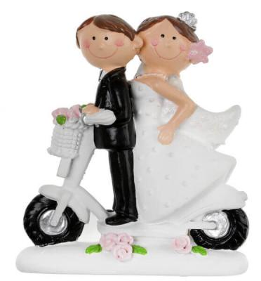 Figurine mariage scooter (x1) REF/5423