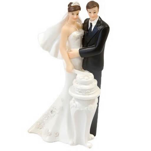 Figurine piece montee de mariage couple de maries amoureux