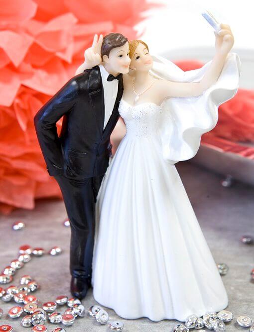 Figurine pour gateau de mariage