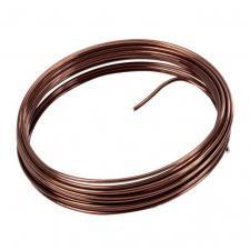 Fil métallique chocolat 2mm x 5m (x1) REF/3387