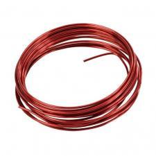 Fil métallique rouge 2mm x 5m (x1) REF/3387