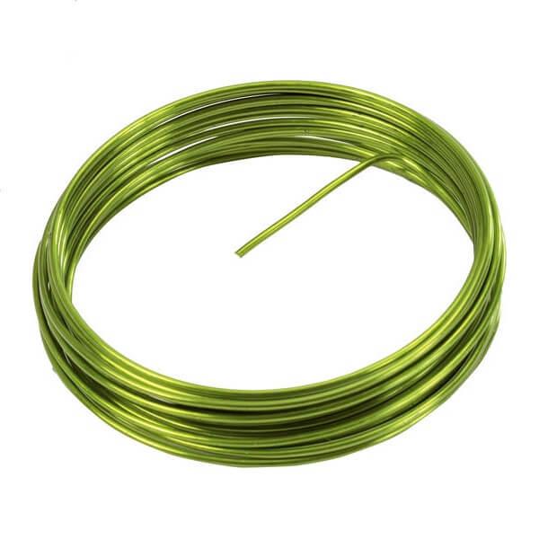 Fil aluminium metallique vert