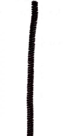 Fil chenille noir, 15cm (x6) REF/3538