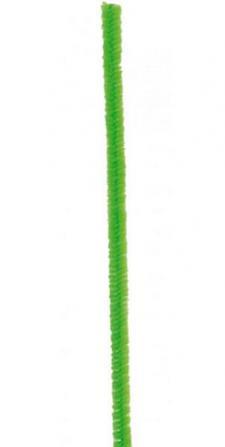 Fil chenille vert, 15cm (x6) REF/3538
