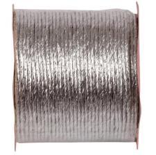 Cordon laitonné métallisé argent (x1) REF/2725