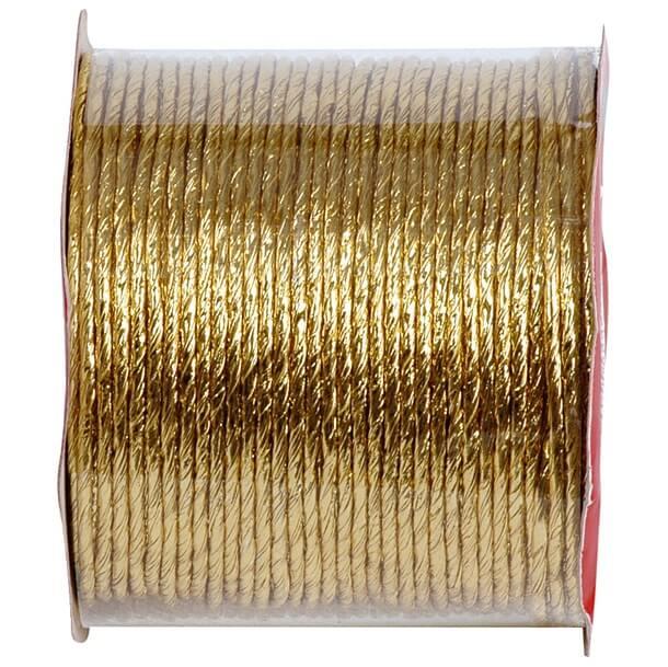 Fil cordon laitonne metallique or