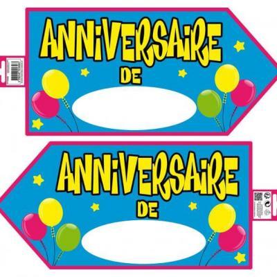 Flèche directionnelle anniversaire bleu (x1) REF/PS00B