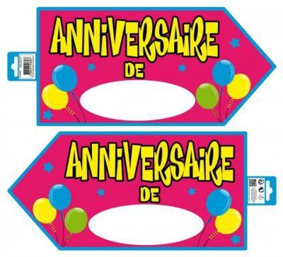 Flèche directionnelle anniversaire rose (x1) REF/PS00R