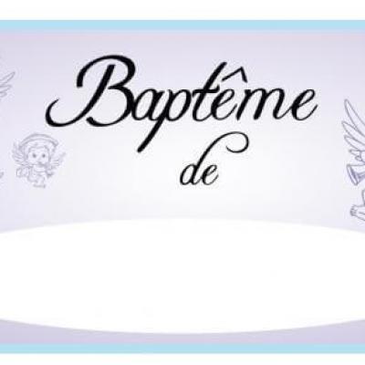Flèche directionnelle baptême garçon (x1) REF/PSB01