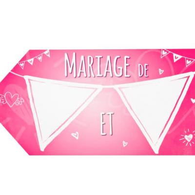 Flèche directionnelle mariage: Fuchsia (x1) REF/DEC811
