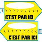 Flèche directionnelle jaune (x1) REF/PS01J