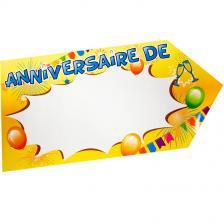 Flèche directionnelle joyeux anniversaire multicolore (x1) REF/AA1023PP