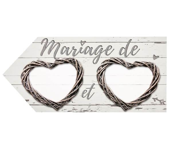 Fleche directionnelle mariage 1