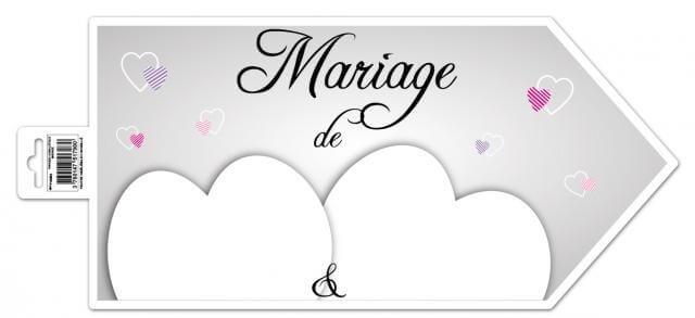 Fleche directionnelle mariage