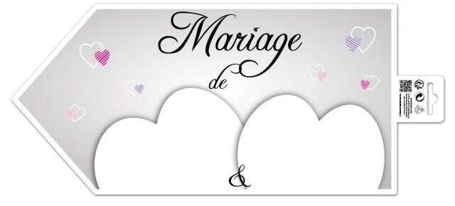 Fleches directionnelles mariage