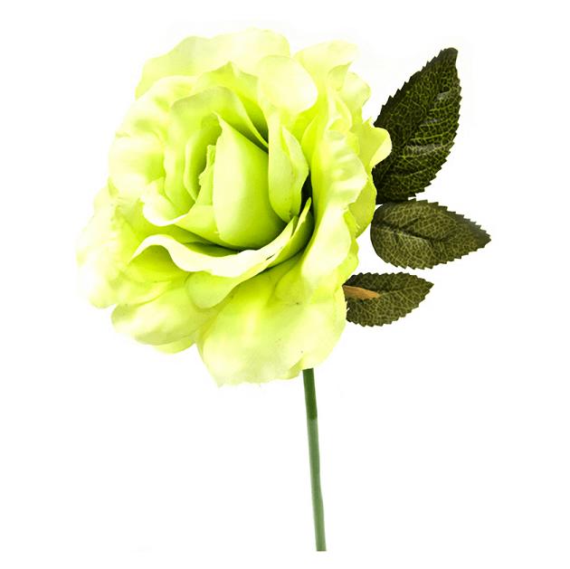 Fleur artficielle rose ancienne creme et verte