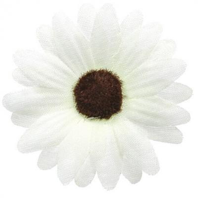 Fleur blanche sans tige 5cm (x24) REF/2631