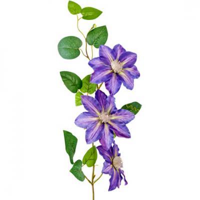 Fleur Clématite bleue 81cm (x1) REF/FTG2062