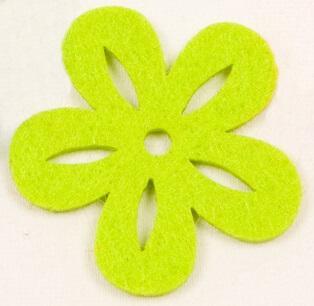 Fleur en feutrine vert menthe (x8) REF/DEC359