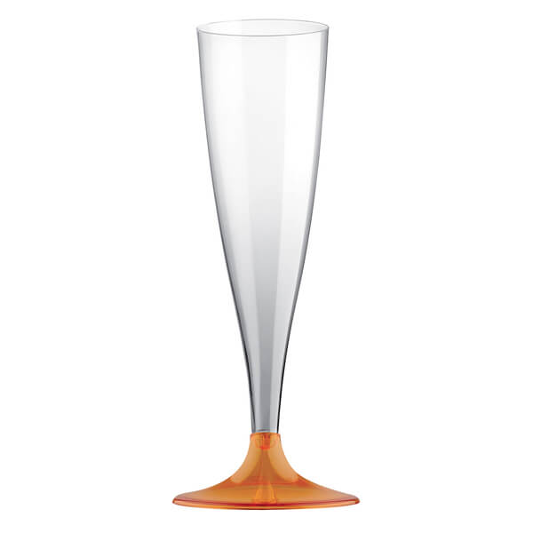 Flute orange 14cl en plastique
