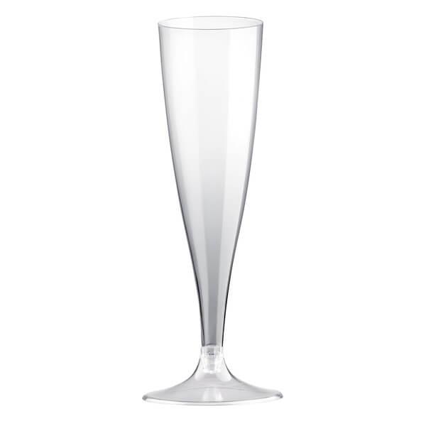 Flute transparente 14cl en plastique