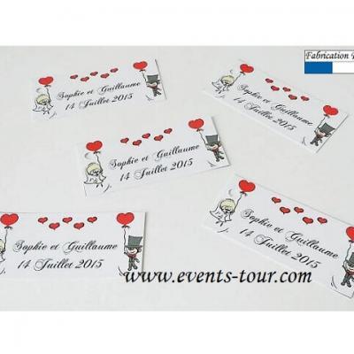 Forfait impression étiquette à dragées Events Tour REF/10464