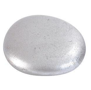 Galet métallisé argent (x6) REF/3626