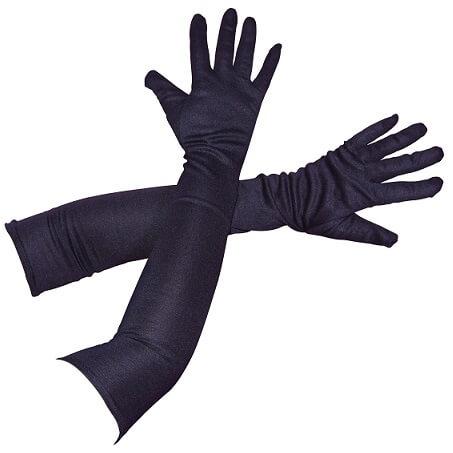 Gant long noir 56cm