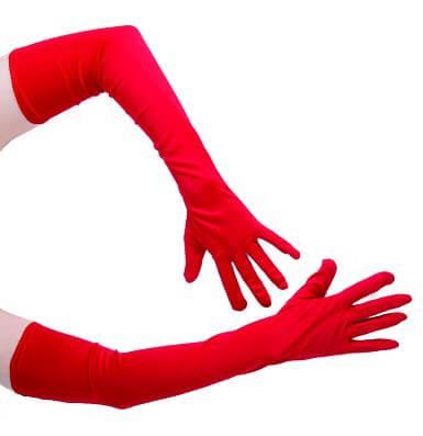 Gants longs rouge, 56cm (x1) REF/39330