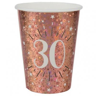 Gobelet anniversaire 30 ans rose gold étincelant (x10) REF/7349