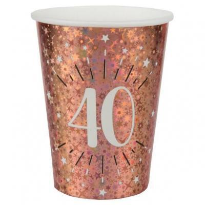Gobelet anniversaire 40 ans rose gold étincelant (x10) REF/7349