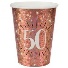 Gobelet anniversaire 50 ans rose gold étincelant (x10) REF/7349