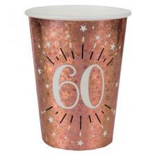Gobelet anniversaire 60 ans rose gold étincelant (x10) REF/7349
