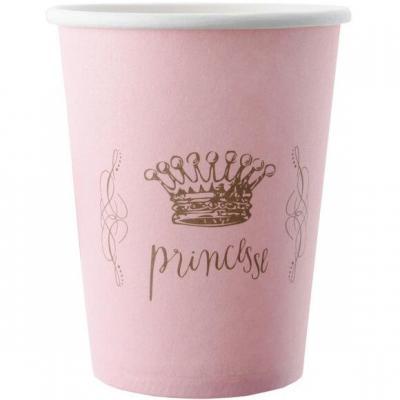 Gobelet princesse rose (x6) REF/3944